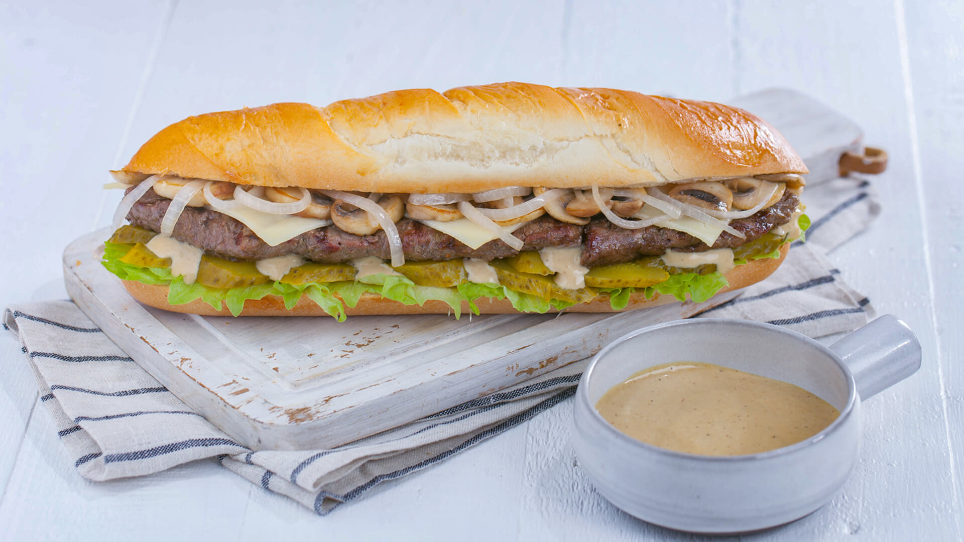 Beef Mushroom Sandwich